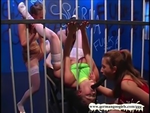Four Gorgeous Lesbian Prisoners have lots of fun - German Go