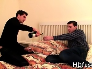 Biggest dick enters throat and pussy