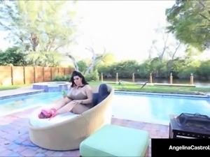 Cuban Princess Angelina Castro Fucks Her Pool Boy's Cock!