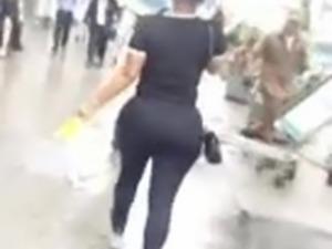 Big Booty Latina Walking In The Rain