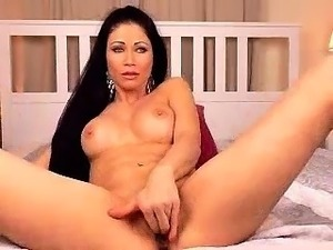 Beautiful model eating her busty friends pussy close up