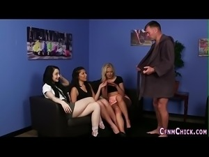 Cfnm fetish babes tugging