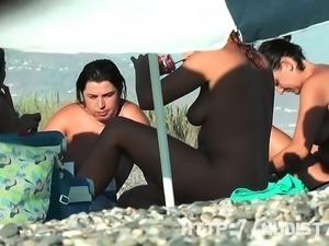 Sexy amateur hidden beach voyeur video on the nudist beach