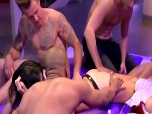 Naughty Babes Wear Sexy Uniforms And Fuck In Swinger Foursome