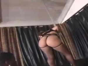 Big ass cutie gets black dick in her pussy