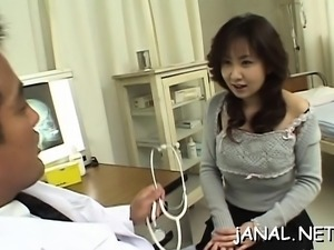 Hawt arse japanese wife anal fuck scenes at home with hubby