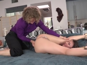 Michael Vegas delivers a rough deepthroat to her wife and later drills her...