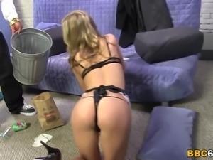 Maid Chastity Lynn Has Anal With Big Black Cock