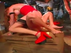 Sassy redhead Audrey Hollander gets double penetrated