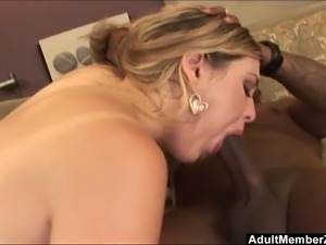 Big booty blonde satisfied by a big dick