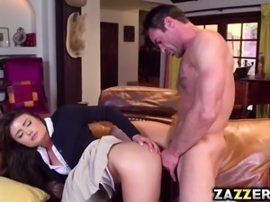 Charles Deras huge cock suck deep throat by Adria Rae