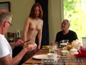 Old woman lesbian Minnie Manga tongues breakfast with John and David. How will i