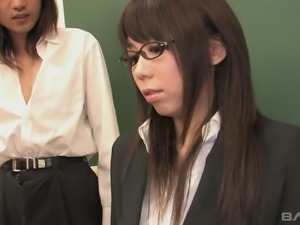 Horny professor Maho Sawai gets her oral skills tested by her students