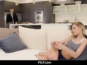 FILF - Teen slut craves her stepdad's cock