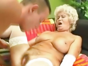 Busty Grandma Effie Gets Drilled
