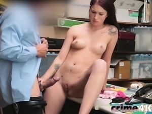Teen Thief Naiomi Mae Gets Pounded In Office