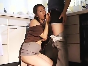 Big boobs Japanese cock sucker