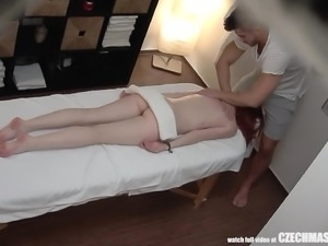 Redhead Teen has Intense Unprotected SEX with Masseur