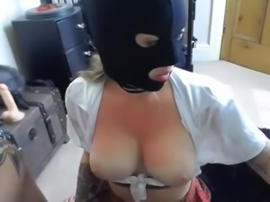 Masked Slut Gets Dirty