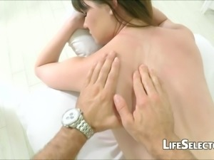 small tits and some oil - alison rey