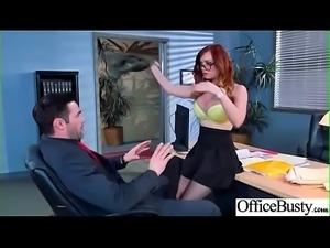 (Dani Jensen) Big Tits Horny Office Girl Get Nailed Hardcore vid-10
