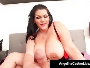 Big Assed Angelina Castro Gives Perfect HandJob & BlowJob!