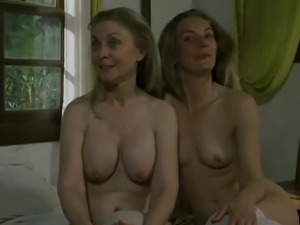 Nina Hartley and other hot porn stars talk about lesbian games