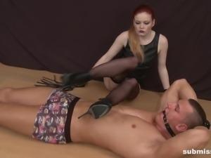 Olivia face sitting her slave in female domination BDSM
