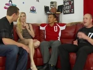 Maia Davis has a blast while riding three monster cocks