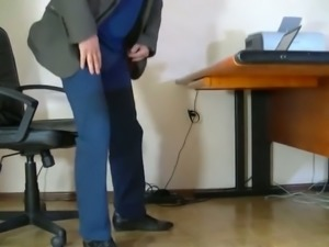 Humble secretary lets me fondle her nicely shaped ass