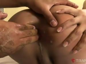 Lewd tranny Alana Ferreira enjoys getting her ass sore from good sex