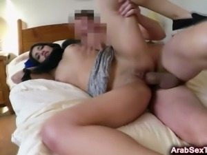 Slutty Arabian bitch fucked for money