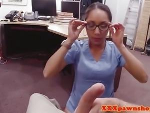 Black spex nurse cocksucks pawnbroker pov