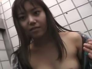 Random Japanese nympho Arisa Minami provides hairy cock with a stout BJ