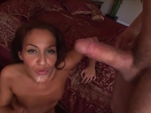 Skinny Lyla Storm smashed hardcore doggystyle in bed sex