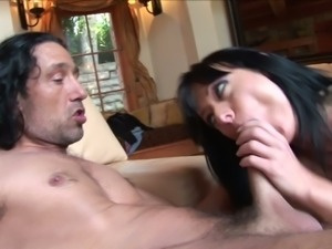 Massive cock of strong stud is made to please holes of kinky Melissa Lauren
