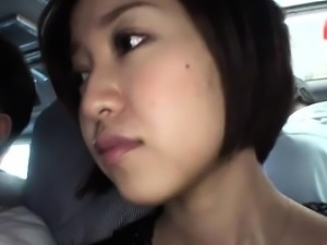 Asian Schoolgirl Handjob in a Bus