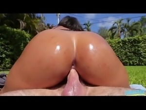 Ava Sanchez Her Fattest Round Ass Over Dick
