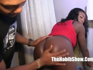 This ebony nympho is always ready to spread her legs wife for big cock