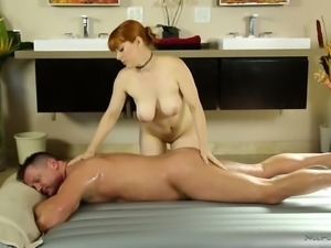 Penny Pax is a nasty masseuse who melts massage sessions with her passion