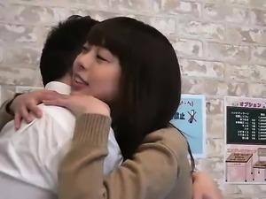 Akiho Yoshizawa horny Asian doll in school uniform fucks