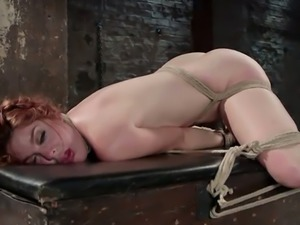 Hanging while being tied Amarna Miller gets treated like a pieced of shit