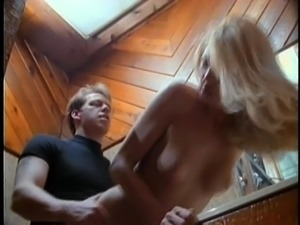 Blonde Alexandra Silk bend over getting smashed hardcore