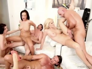Just wild orgy sex party with a spoiled too whorish bitch Mona Lee