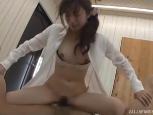Katou Honoka is a cock craving lady ready to ride a man's boner