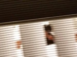 Voyeurism peeking through the window