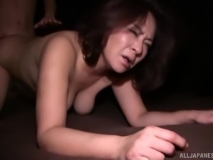 Mature Japanese woman cannot resist a lover's hard penis