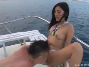 Outdoor plowing experience with hot Japanese babe Mizuki Miri