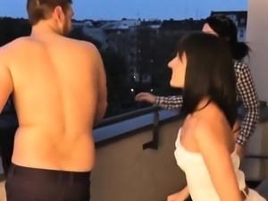 Hot amateur blowjob threesome