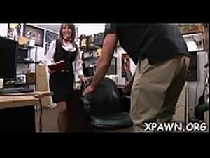 Gal is having sex in shop